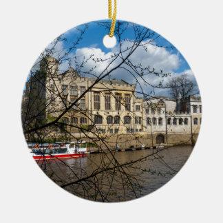 Río Ouse del consistorio de la ciudad de York Ornamento De Navidad