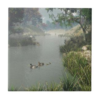 Río perezoso azulejo cuadrado pequeño