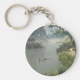 Río perezoso llavero redondo tipo pin