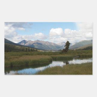 Río perezoso pegatina rectangular