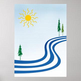 Río perezoso póster