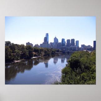 Río Philadelphia de Schuylkill Póster