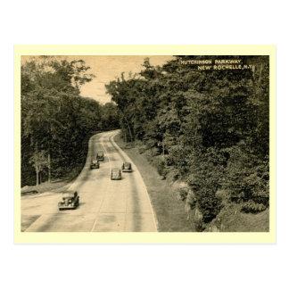 Río Pkwy, New Rochelle, vintage de Hutchinson de N Tarjetas Postales