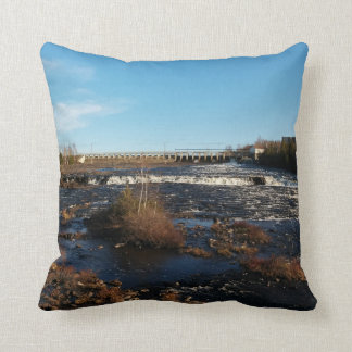 Río que fluye cojín decorativo