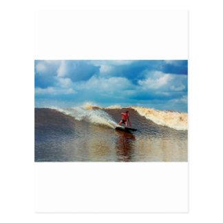 Río que practica surf el diámetro interior de postal