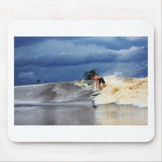 Río que practica surf paraíso tropical de la onda  alfombrillas de ratón