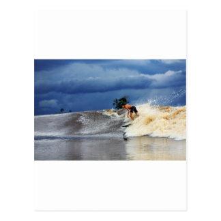 Río que practica surf paraíso tropical de la onda postales