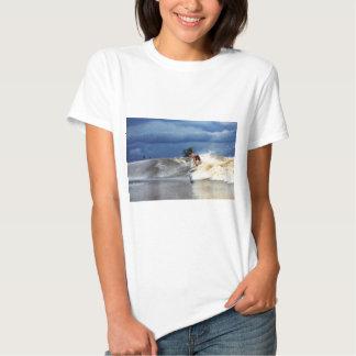Río que practica surf paraíso tropical de la onda remera