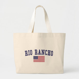 Rio Rancho US Flag Large Tote Bag