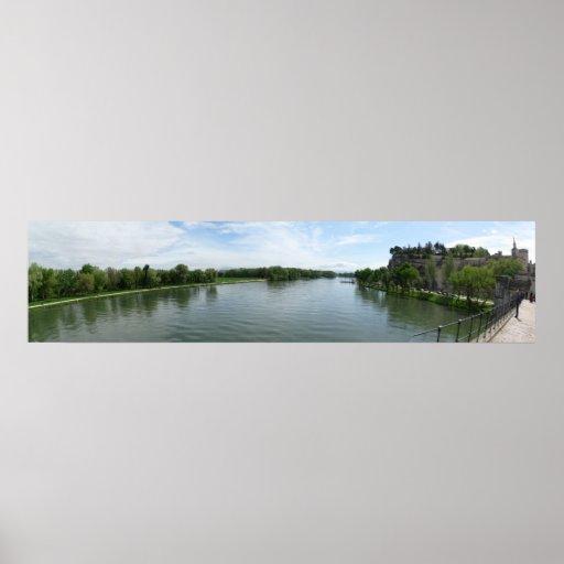 Río Rhone en Aviñón Impresiones