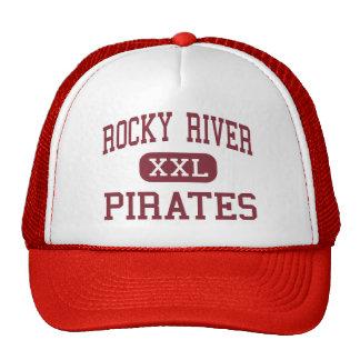 Río rocoso - piratas - centro - río rocoso Ohio Gorras