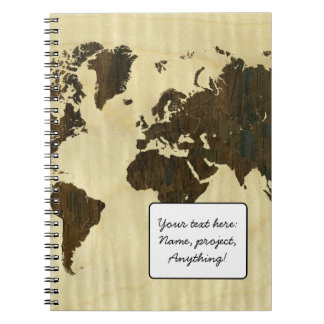 Rio Rosewood and Curly Maple World Map.jpg Notebook