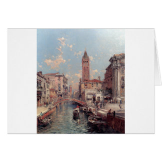 Rio Santa Barnaba, Venice by Franz Richard Card