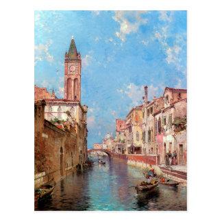 Rio Santa Barnaba, Venice by Franz Richard Postcard