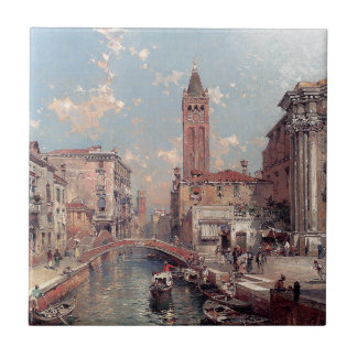 Rio Santa Barnaba, Venice by Franz Richard Tile