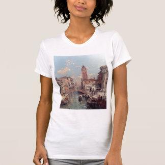 Rio Santa Barnaba, Venice by Franz Unterberger Shirt