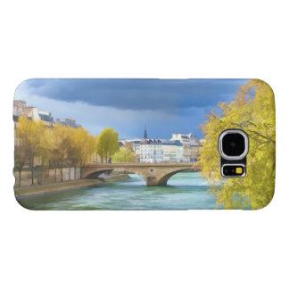 Río Sena debajo de los cielos de abril Funda Samsung Galaxy S6