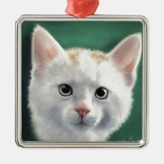 Rio Square Metal Christmas Ornament