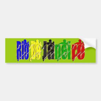 Rio Summer games Forest Green Sticker Car Bumper Sticker