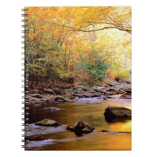 Río Tennessee ahumado de oro Libretas Espirales