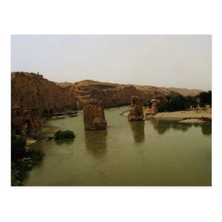 Río Tigris que atraviesa Hasankeyf, Turquía Tarjetas Postales