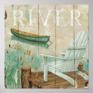 Río tranquilo póster