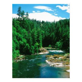 Río Umpqua el condado de Douglas Oregon Membrete A Diseño