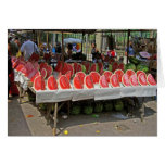 Rio Watermelon Stand Greeting Card