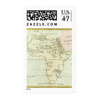 Río y montañas de África Timbres Postales