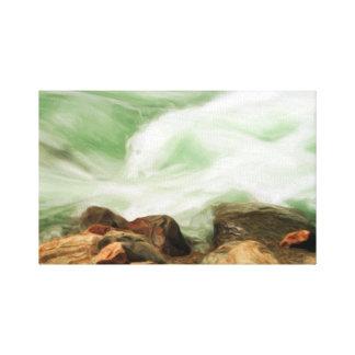 Río y rocas que fluyen impresion de lienzo