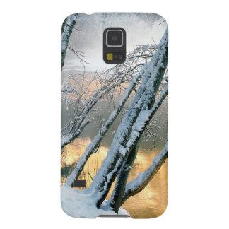 Río Yosemite de Merced de los árboles de aliso del Carcasa Para Galaxy S5