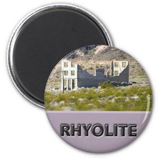 Riolita Nevada Imán Redondo 5 Cm