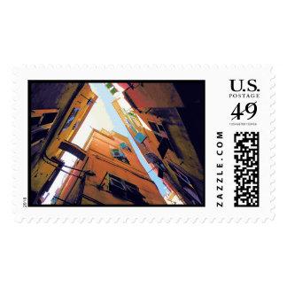 riomaggiore #3 postage stamp