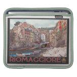 Riomaggiore Harbor - on Black.jpg iPad Sleeve