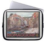 Riomaggiore Harbor - on Black.jpg Laptop Computer Sleeves