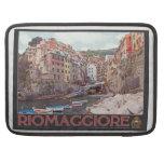 Riomaggiore Harbor - on Black.jpg Sleeve For MacBook Pro
