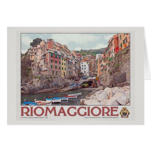 Riomaggiore Harbor - on White.jpg Cards
