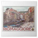 Riomaggiore Harbor - on White.jpg Ceramic Tile