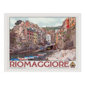 Riomaggiore Harbor - on White.jpg Postcard
