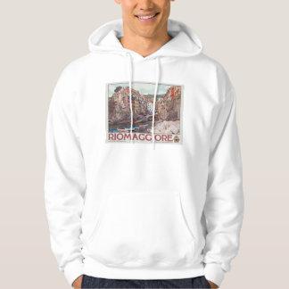 Riomaggiore Harbor - on White.jpg Sweatshirts