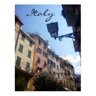 riomaggiore italy postcard