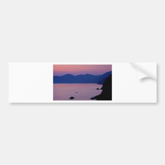Riomaggiore Sunset Bumper Sticker