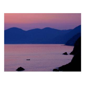 Riomaggiore Sunset Postcard