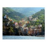 riomaggiore view postcard