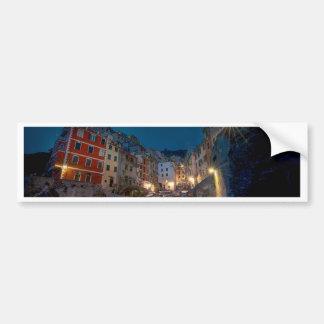 Riomaggiore village at night, Cinque Terre, Italy Car Bumper Sticker