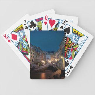 Riomaggiore village at night, Cinque Terre, Italy Card Deck