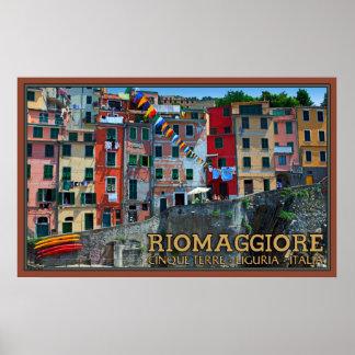 Riomaggiore Waterfront Houses Print