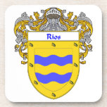 Rios Coat of Arms/Family Crest Drink Coaster
