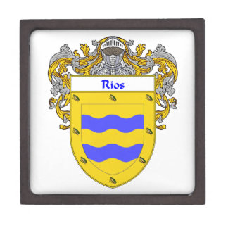 Rios Coat of Arms/Family Crest Jewelry Box