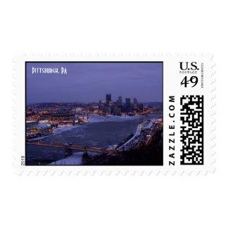 Ríos congelados en Pittsburgh, franqueo del PA Estampilla